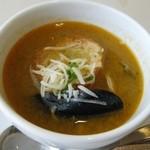 フレンチレストラン カザマ - 本日のスープ。アップ。