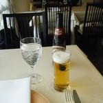 フレンチレストラン カザマ - 歩いて来て暑くなったので「とりビー」