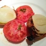 41990142 - (ランチスタンダードベジタブル)トマトと玉ねぎの岩塩焼き