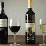 ダイニングバー SayaSaya - ドリンク写真:赤・白ワイングラス各3種 \420~