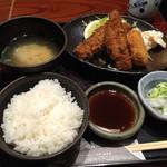 41990277 - 秋刀魚フライとかにクリームコロッケ定食