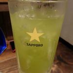 筑前屋 - メガ緑茶ハイ(750円)