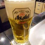 ビール100円『たんと』 - スーパードライ