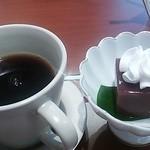 花こころ - コーヒーと水羊羹