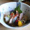 米酢をつかった海鮮酢の物