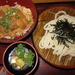 杵屋 - 2015年のかつ丼定食1050円