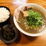 41998880 - 天骨麺&ライス&高菜漬け!!(´艸`*)