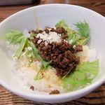 四川担担麺 阿吽 - ラー油肉飯
