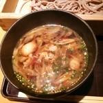 42004009 - ランチ:鶏だし板蕎麦の温つゆ
