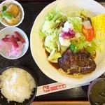 レストラン141 - 友人の黒毛和牛(A5)100%ハンバーグ定食