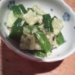 韓国郷土料理 ととり - きゅうりのたたき