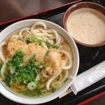大介うどん - 白丼(300円)+えび天(150円)+山芋(150円) +ねぎ(10円)=610円