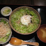 牛肉旬菜 しぐれや - 青ネギたっぷり牛玉丼定食