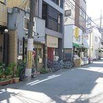 42016092 - 視点:押小路通沿い西向き(南に京都市役所前駅)