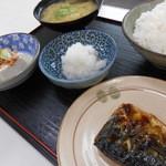 魚市場食堂 - 塩サバ定食