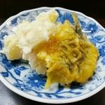 味美 - 料理写真:鯵フライ(カレー味) ポテトサラダ