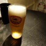 住吉町立ち呑みばる平八郎 - 2015.09 センベロセットのビール(小ジョッキ)