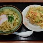 モテナス - 手づくり野菜かき揚げうどん470円