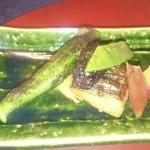 季のかおり - 焼き物    鰆の焼きものの上に田楽味噌がのっており、季節の野菜を色々添えてあった美味しく食べごたえのある一品でした。。