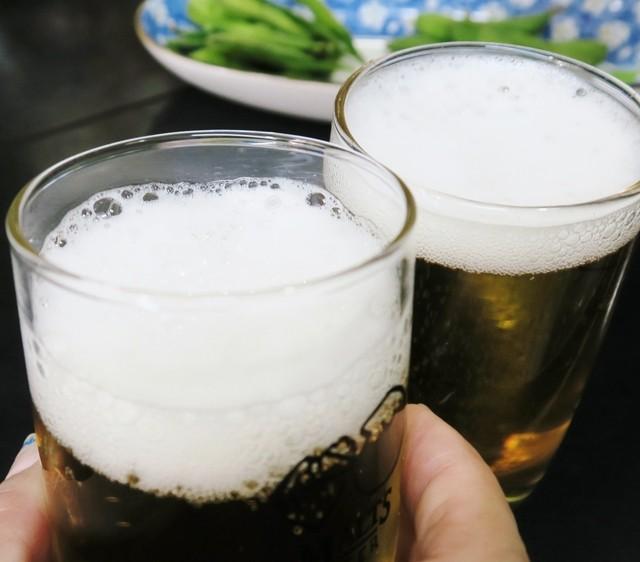 酒幕 - まずはビールで乾杯!