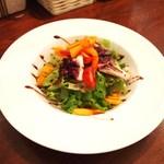 Ristorante Rin - ランチセットの前菜のサラダ