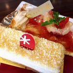パティスリー シュクレ - 十勝カマンベールチーズケーキ&いちじくのタルト@ケーキバイキング