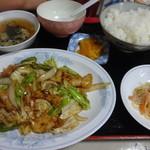 蘭蘭 - ホイコーロー定食¥840☆