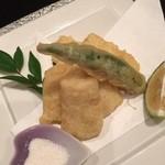 鮨てしま - コーンの天ぷら