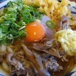 丸亀製麺 - 肉玉かけうどん