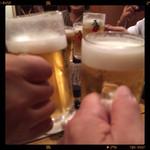 がんばれニッポン馬肉道場 馬喰ろう - その他写真:生ビールで乾杯!