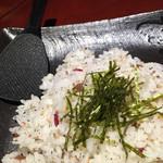 咲咲 - 咲咲(さくさく)岡山市北区錦町〜梅としらすのまぜご飯 ※コース料理11品と飲み放題3500円