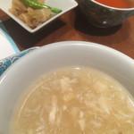 42045927 - セットのスープと副菜