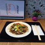 飛鳥カリーカフェ - 飛鳥のカレー焼きそば 明日香村産の季節たっぷり野菜と辛くないスパイシーな新しい焼きそばです( ^ω^ )♪