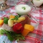 シャンデレール - 白桃の冷製スープ・・・