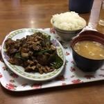 中華 富士 - 肉ナス味噌炒め定食
