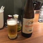 麺屋 ねむ瑠 - 「瓶ビール」500円