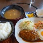 ふじむら精肉店 - 料理写真:ハンバーグセット
