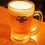 やきとり家三十六 - 生ビール
