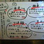 麺's room 神虎 - メニュー