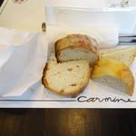 カルミネ - 紙袋に入って登場〜自家製パン