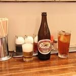 大来 - 卓上、瓶ビール、ウーロンハイ