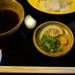 筑紫亭 - 薬味とポン酢