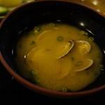 筑紫亭 - アサリの味噌汁
