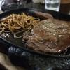 おでんの店 勝美 - 料理写真:宮古島ではこれ!飲み後の〆ステーキ(ご飯・スープ付) 1200円 とりあえず案外食える笑 昨日はすごい食べたし飲んだ!