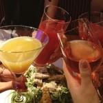 42070085 - シンデレラ、ロゼ、ブラッドオレンジジュースで乾杯!