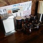 星野ラーメン店 - 2015/7 カウンター卓上
