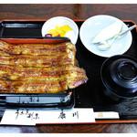 うなぎ割烹 康川 - 「うな重・梅 セット」(2015.08)