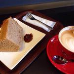 anthrop.Espresso&Comfort - シフォンケーキセット(飲みかけ)