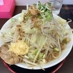 麺屋 元 - 20150920_元節麺・大盛り、にんにく・野菜マシ麺硬め(820円)