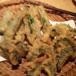 響 - 島オクラとゴーヤの天ぷら